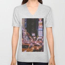 Times Square New York City Unisex V-Neck