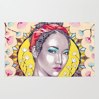 you are my sunshine Area & Throw Rugs featuring Sunshine by Peter Fulop