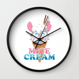 Mice Cream Mouse Rodent Rat Animal Pet Gift Wall Clock