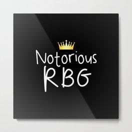 Notorious RBG Metal Print