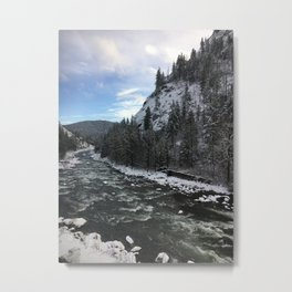 Snowy banks Metal Print