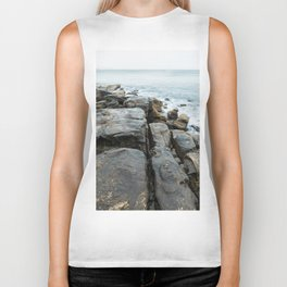 Beachside Rock Formation at Manly Beach, Sydney Biker Tank