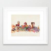 kansas Framed Art Prints featuring wichita kansas by bri.buckley