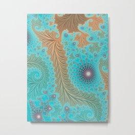 Aquae - Fractal Art Metal Print