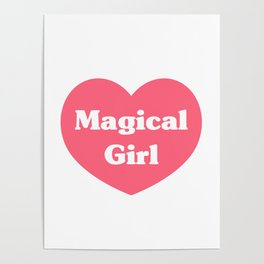 Heart Magical Girl Poster