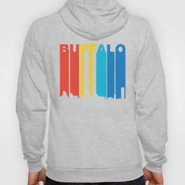 Retro 1970's Style Buffalo New York Skyline Hoody