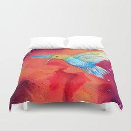 Autumn Hummingbird Duvet Cover
