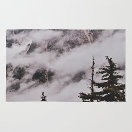 Fog in the Cascades Rug