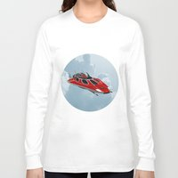 spaceship Long Sleeve T-shirts featuring Spaceship by Design Windmill