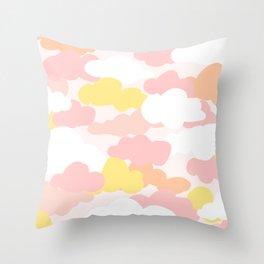 Pastel Serbert Cloud Pattern Throw Pillow