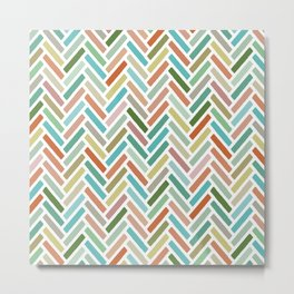 pastel herringbone Metal Print