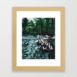 Boulder Creek Float Framed Art Print
