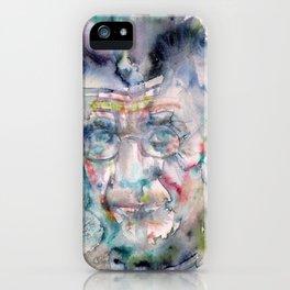 SAMUEL BECKETT watercolor portrait.7 iPhone Case