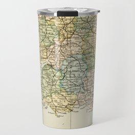 England and Wales Vintage Map Travel Mug