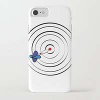 chicago bulls iPhone & iPod Cases featuring Bulls Eye by Nivedhna
