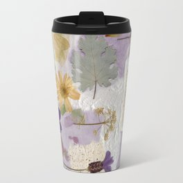 Lavender Collage Travel Mug