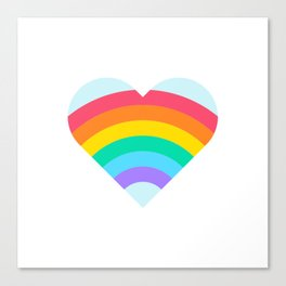 Pride Rainbow Heart Canvas Print