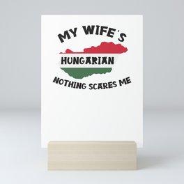 Hungary Woman Funny Married Hungarian Mini Art Print