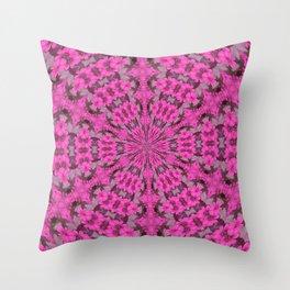 Pink Daisy Kaleidoscope Throw Pillow