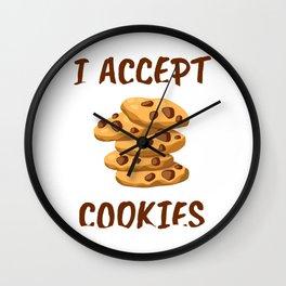 I Accept Cookies Wall Clock