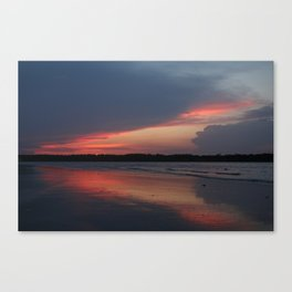 Sunset on the waterway Canvas Print