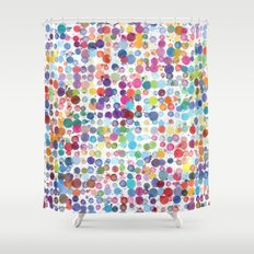 Watercolor Drops Shower Curtain