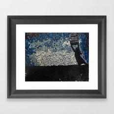 Free Bird  - Glass Mosaic Silhouette Framed Art Print