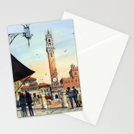 Piazza del Campo, Siena Stationery Cards