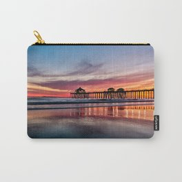 HB Sunsets 2/23/16 ~  Sunset At The Huntington Beach Pier Carry-All Pouch