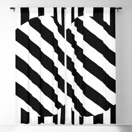 The Turning Point - Abstract Minimalism Art (3) Black & White Blackout Curtain