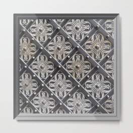 Metallic And Decorative - Grey Monochrome #decor #society6 #buyart Metal Print