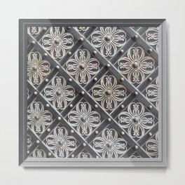 Metallic And Decorative - Grey Monochrome #decor #society6 #buyart Metal Print