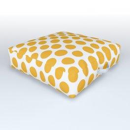 Honey Gold Dots - White Outdoor Floor Cushion
