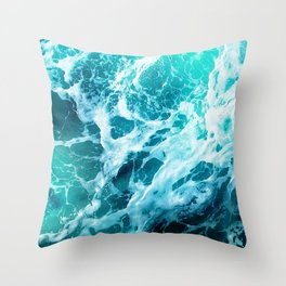 Out there in the Ocean Throw Pillow