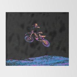 AIR TIME - Motocross Sports Art Throw Blanket