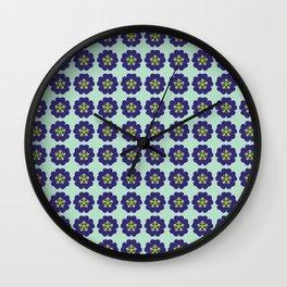 Geometric flower pattern Wall Clock