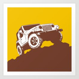 car jeep Art Print