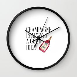Champagne sign,Party Decorations,Bar Sign,Bar Poster,Champagne is always a good Idea,Printable Wall Clock