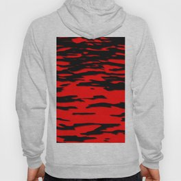 Black red abstract wave Hoody