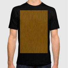 Abstract wood grain texture MEDIUM Black Mens Fitted Tee