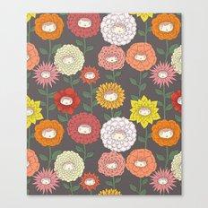 Talking Garden (gray) Canvas Print