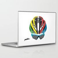 cycling Laptop & iPad Skins featuring Cycling Face by Pedlin