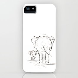 Elephants. iPhone Case