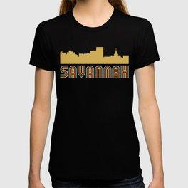 Vintage Style Savannah Georgia Skyline T-shirt