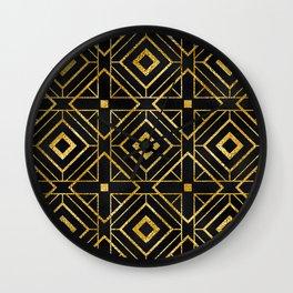 Exotic Art Deco Breathtaking Geometric Design Wall Clock