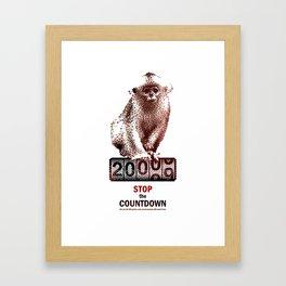 Save Golden Monkeys Framed Art Print