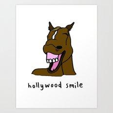 hollywood smile Art Print
