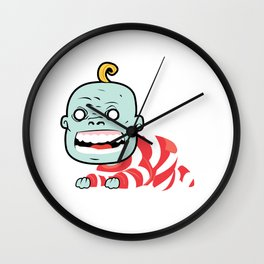 Zombaby decomposition face two Wall Clock