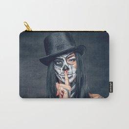 Dia De Los Muertos Day of the Dead Sugar Skull Model Makeup Ultra HD Carry-All Pouch