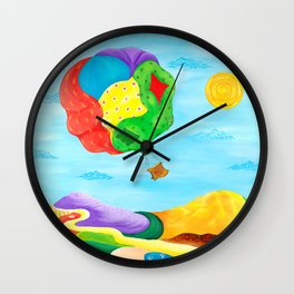 Balloon Patches Wall Clock